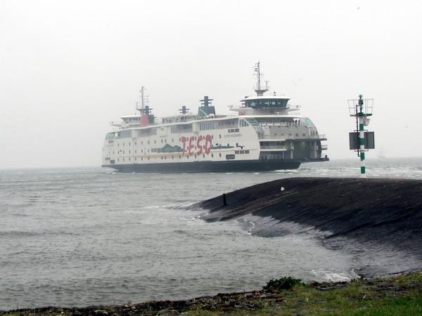 De veerboot naar Texel.