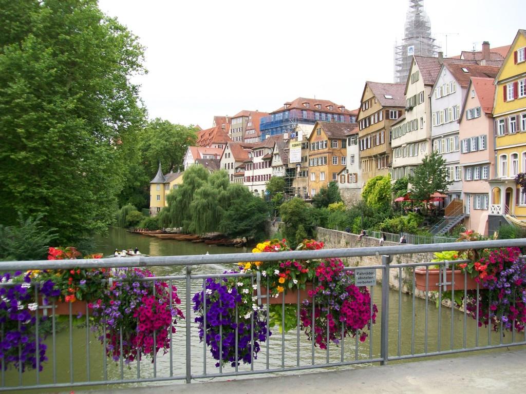 In de Altstad van Tubingen.