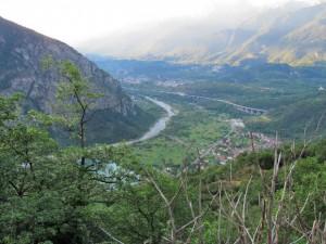 Zicht op het dal bij Susa