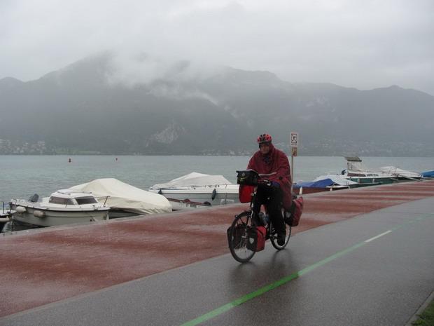 regen aan het meer van Anecy