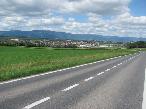 De bergen van de Jura op deachtergrond