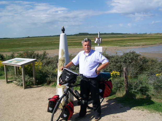 Bij het Zwin op de grens met Belgie