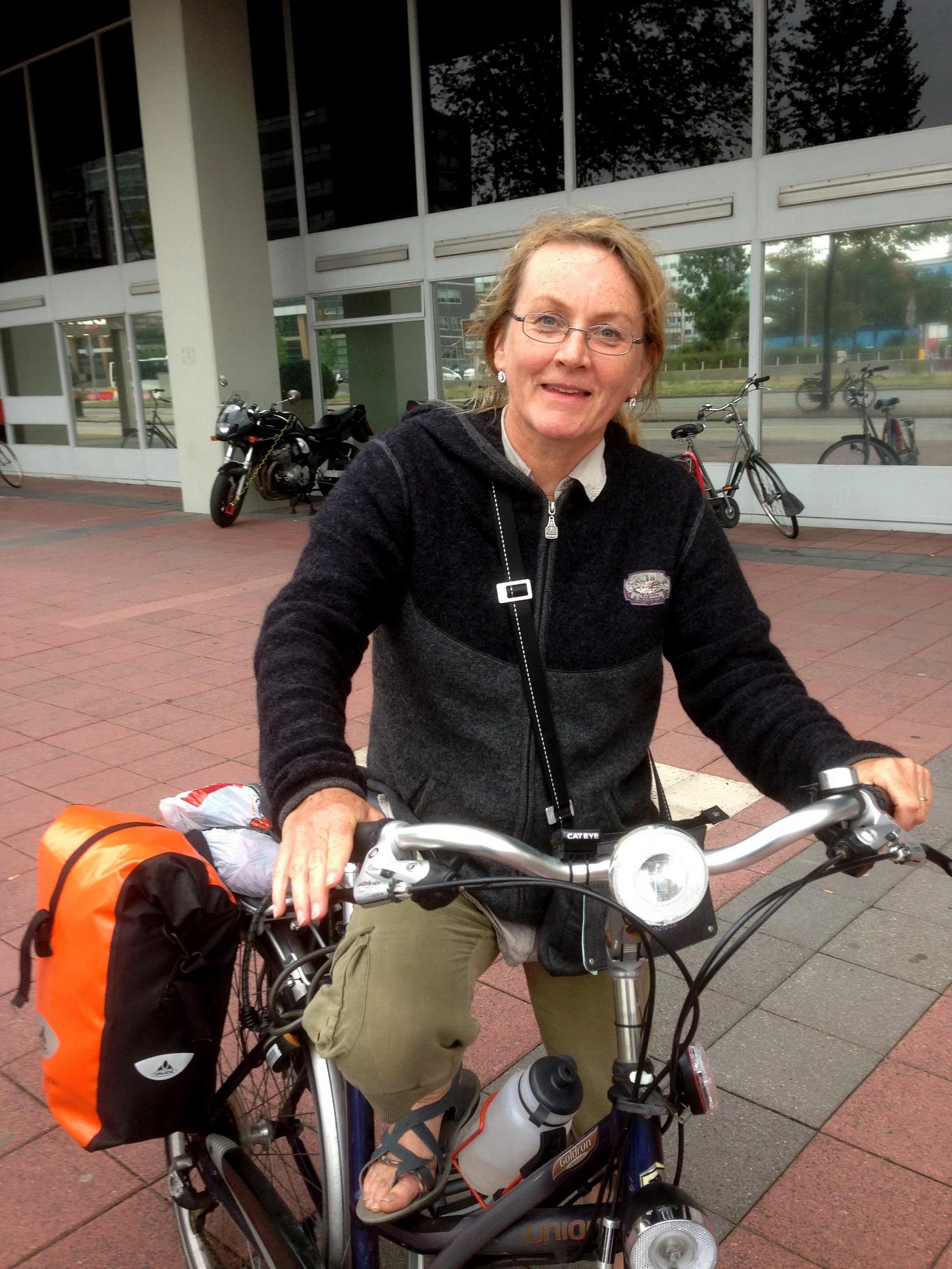 Irma uit Arle-Rixtel waarmee van Loenen naar Utrecht fietste.